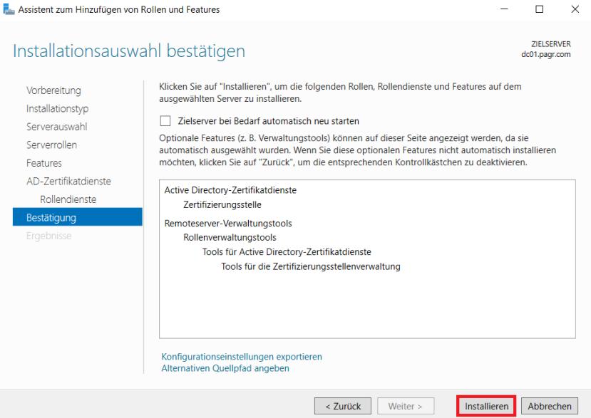 Active Directory Zertifikatsdienste (Teil 1): Installation einer ...
