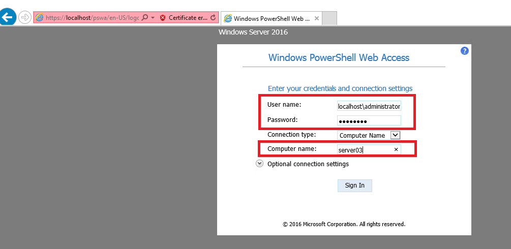 Windows Server 2012/2016: Installing and Configuring PowerShell Web