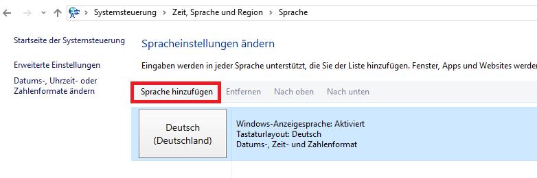 Windows Server 20122016 Sprache ändern Deutsch Auf Englisch