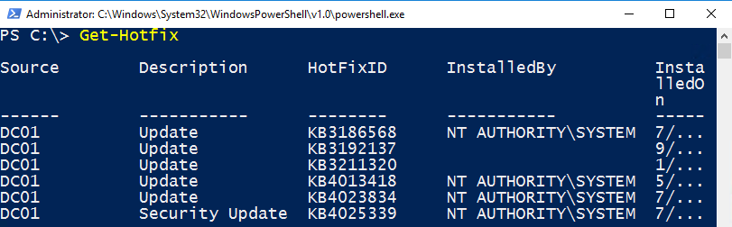 PowerShell: Collect information about installed Updates