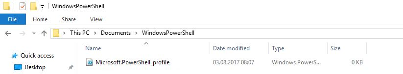 How to create PowerShell Profiles – SID-500 COM
