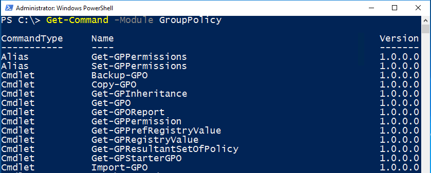 Configuring Group Policies using Windows PowerShell – SID