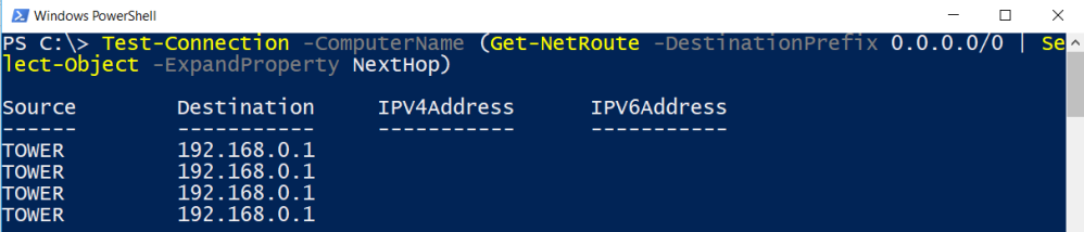 PowerShell Function: Testing the Default Gateway with Test-Gateway