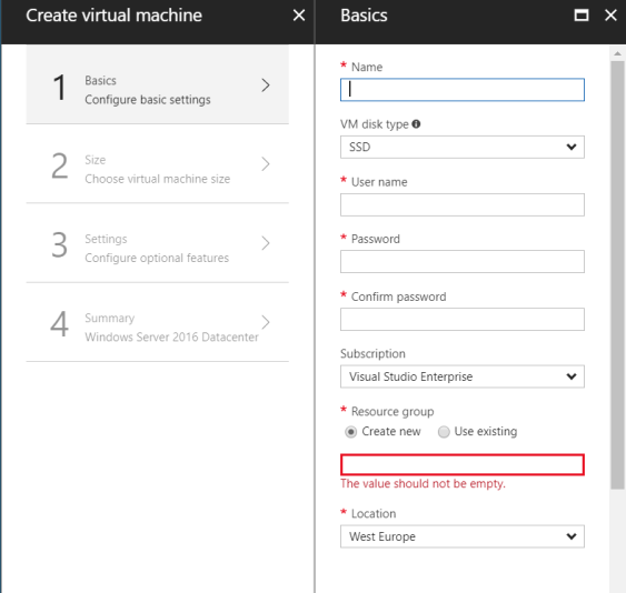 Microsoft Azure: How to create an Azure VM and connect via