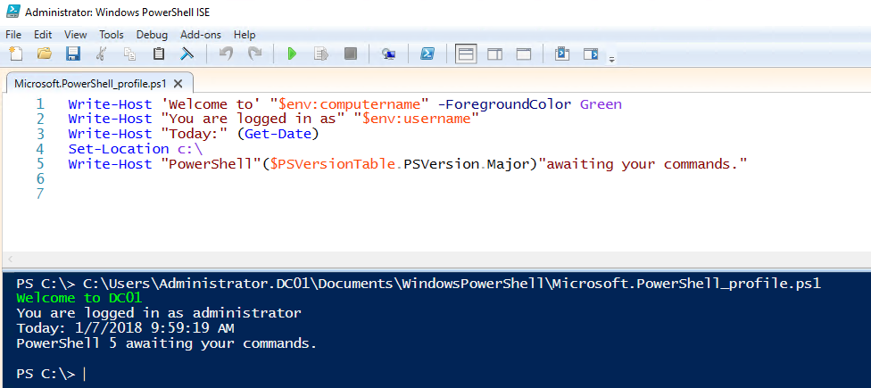 PowerShell for Beginners (Part 6): PowerShell Profiles and the ISE