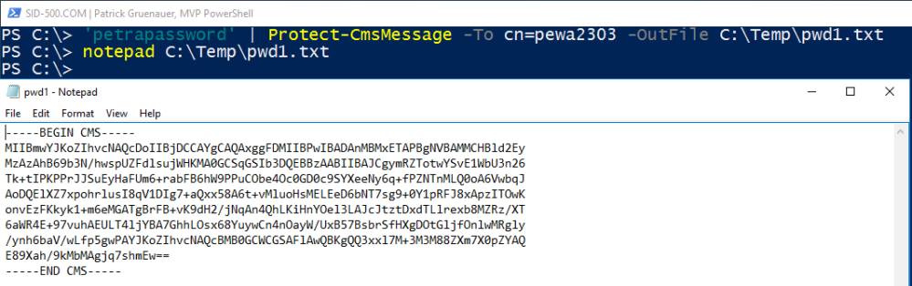 PowerShell: Encrypt and store your Passwords and use them
