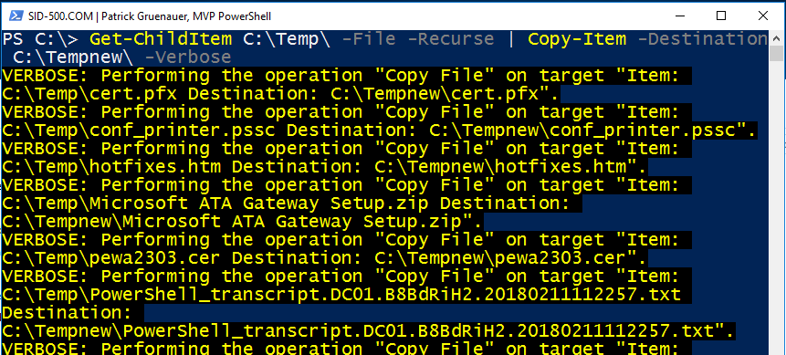 Copy-Item and Remove-Item: Automate copying and deleting operations