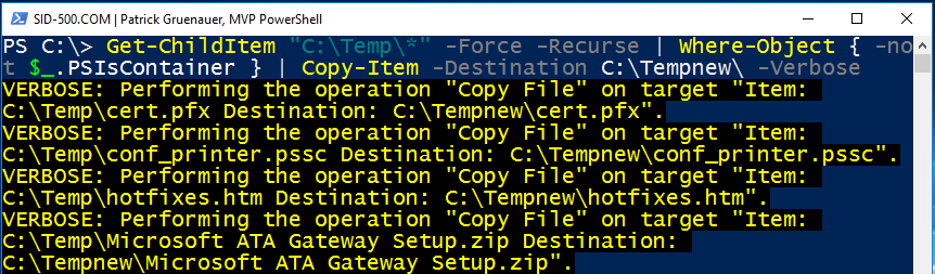 Copy-Item and Remove-Item: Automate copying and deleting