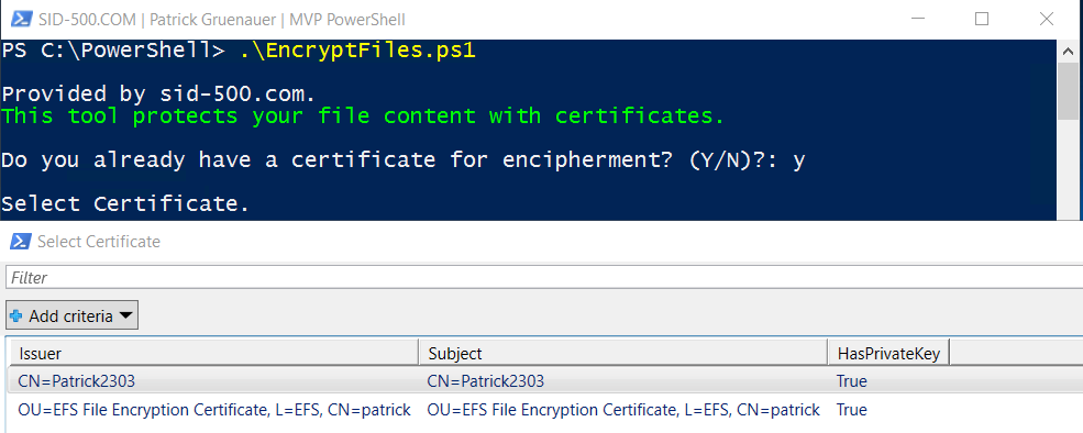 EncryptFiles ps1: Tool for encrypting File Content with