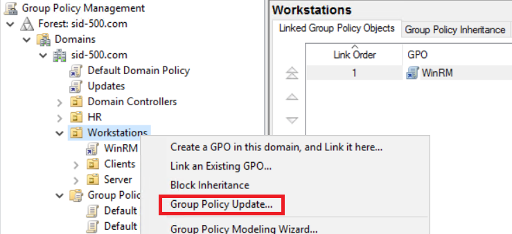 Group Policies: Enabling WinRM for Windows Client Operating Systems