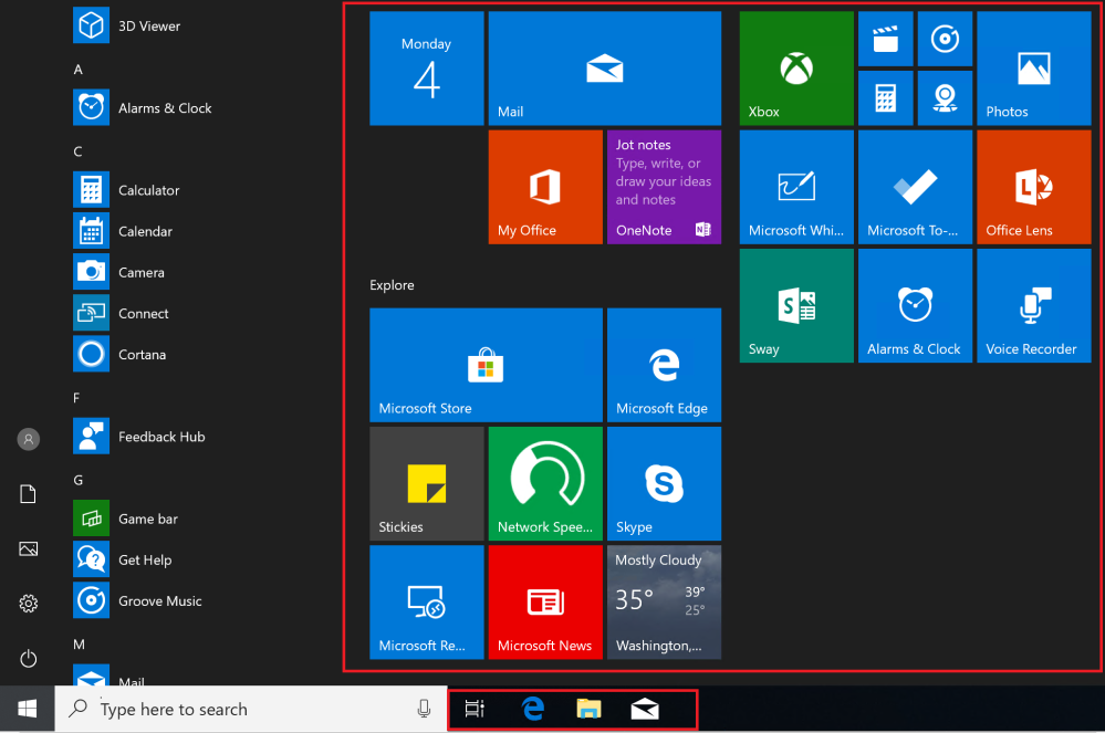 Active Directory: Customizing the Windows 10 Taskbar and